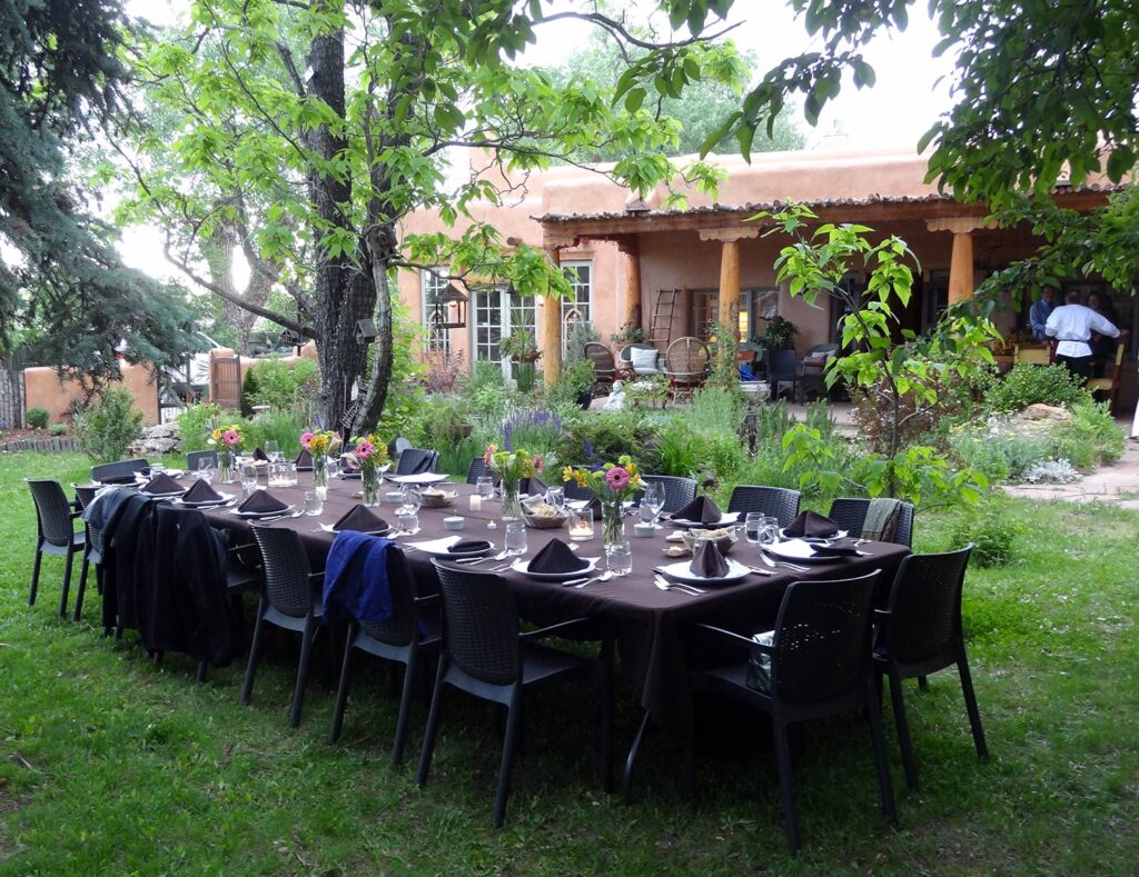 Secret Supper Club in the gardens of the Taos Distillery