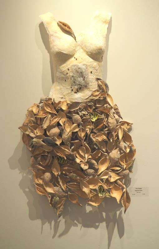 Stephanie Hilvitz, 'Vessel', plaster body cast with milkweed pods
