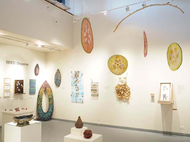 Julia Ruth Claus, installation view of her mobile, photo courtesy of the Dairy ARTS Center