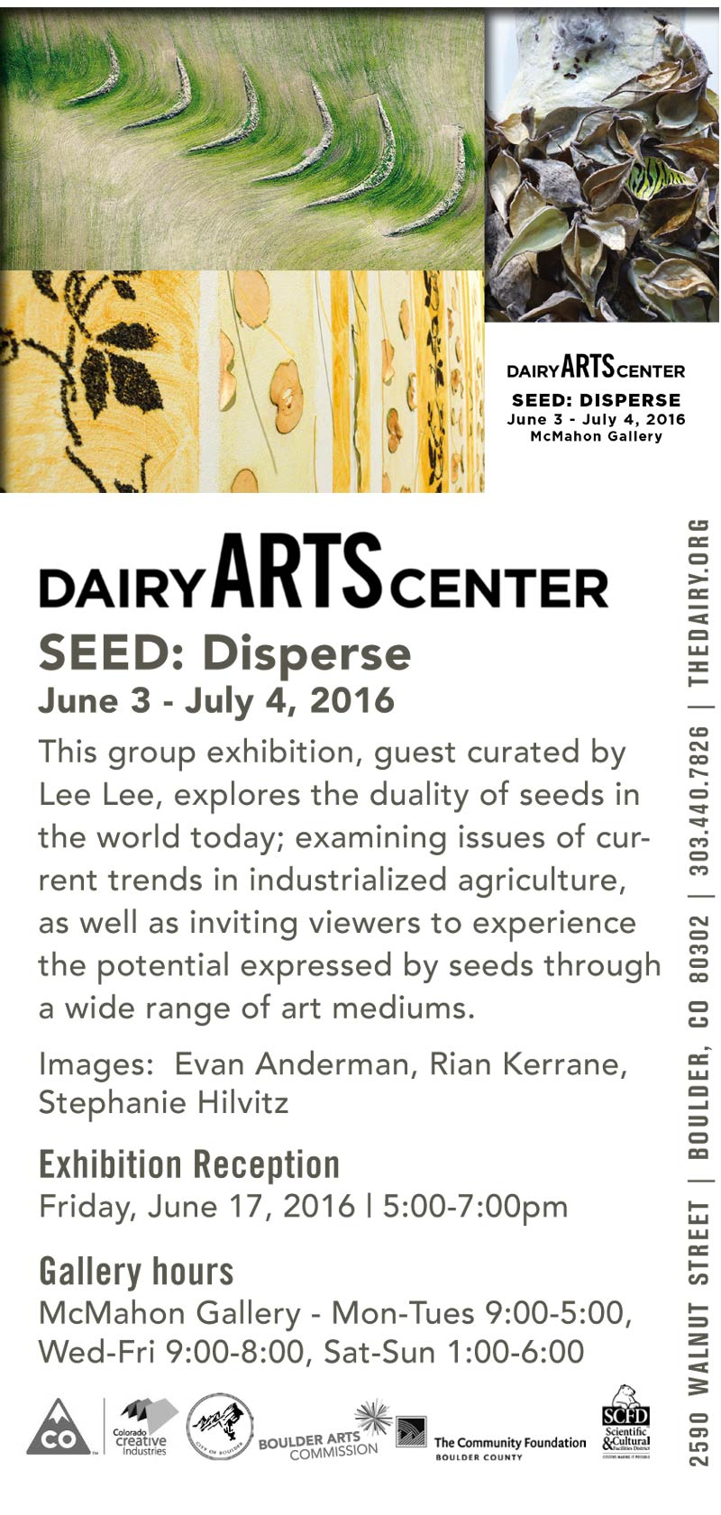 Seed Disperse At The Dairy Arts Center Voices