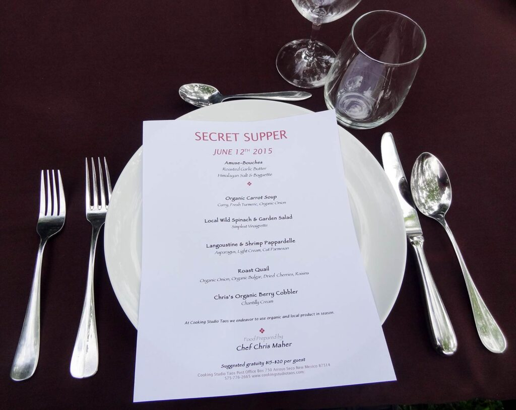 Secret Supper by Cooking Studio Taos